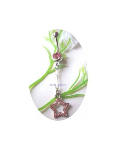 Piercing nombril étoile