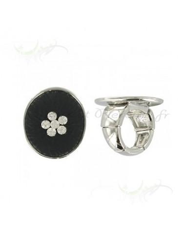 Bague fantaisie - bijoux de couleur noir
