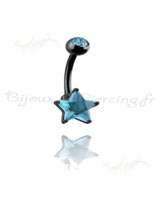 Piercing de nombril blacksteel étoilé