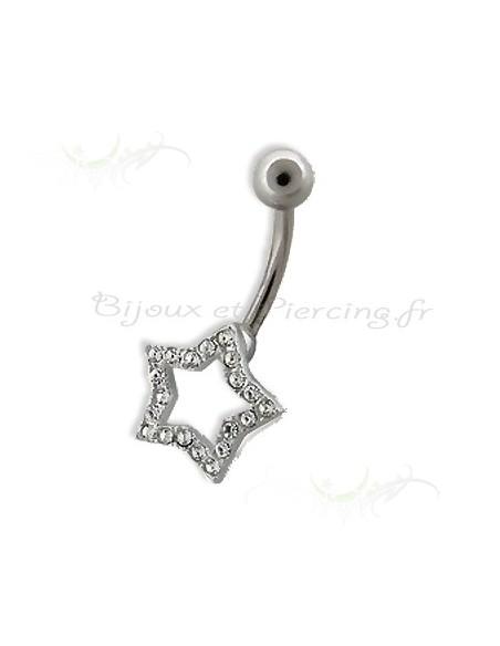 Piercing nombril étoile du berger