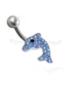 Silver Body Jewelry - piercing cristal