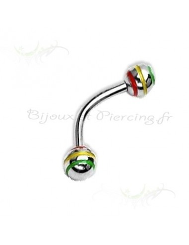 piercing arcade rasta a boule