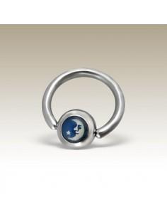 Piercing circulaire croissant de lune