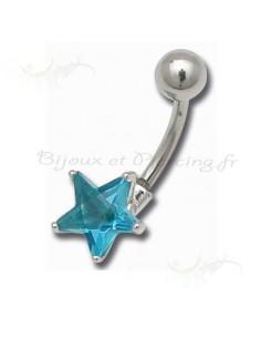 Une étoile suspendu a votre ventre - piercing nombril