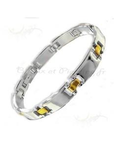 Bracelet homme en acier coloré