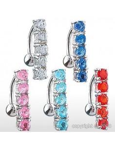 Piercing nombril inversé 5 gems