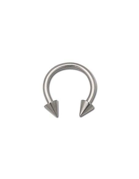 Piercing circulaire titane pointe et barre