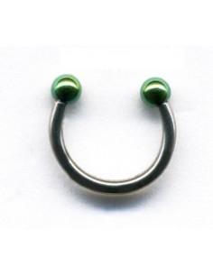 Micro piercing fer a cheval acier boule de couleur
