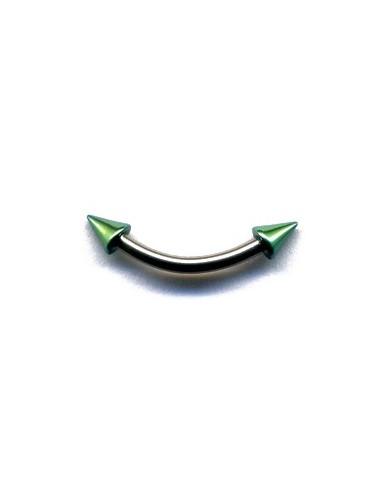 Micro piercing acier noir avec boule ou pointe anodise