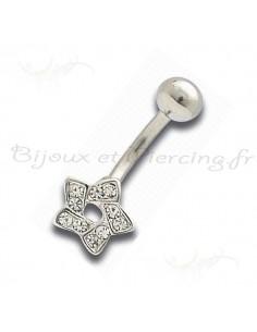 Piercing nombril etoile gothique