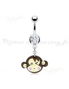 Piercing nombril tendre singe