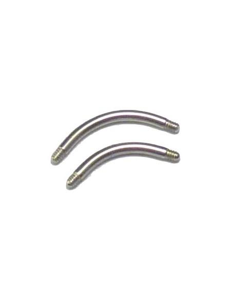 Barre de piercing - élement seul micro banane Titane 1.2 mm