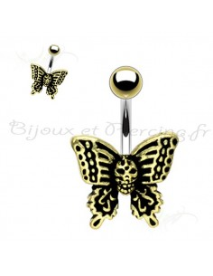 Piercing nombril papillon haloween
