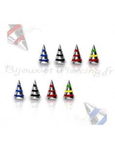 Boules et cônes jamaique pour barre 1.2 mm