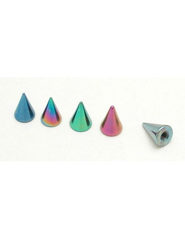 Pointes acier anodise de couleur pour barre de 1.2 mm