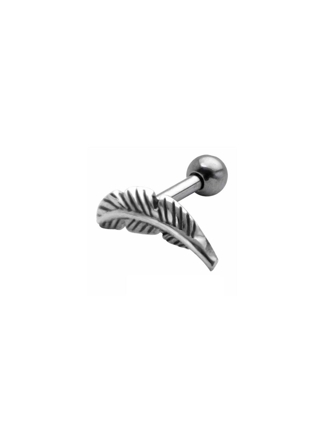 piercing cartilage plume d 39 argent. Black Bedroom Furniture Sets. Home Design Ideas