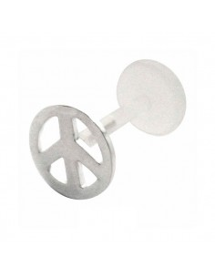 Piercing peace and love argent
