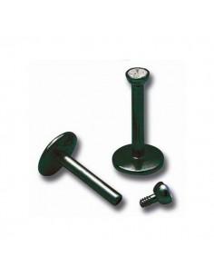Micro piercing labret barre acier noir avec gem