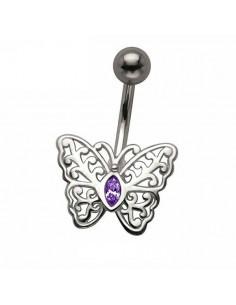 Piercing nombril vintage papillon