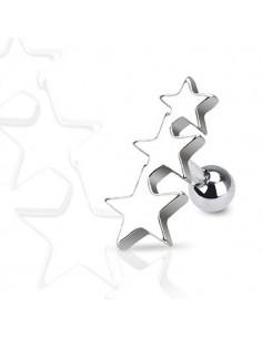 Piercing Oreille Helix Tragus étoile polaire