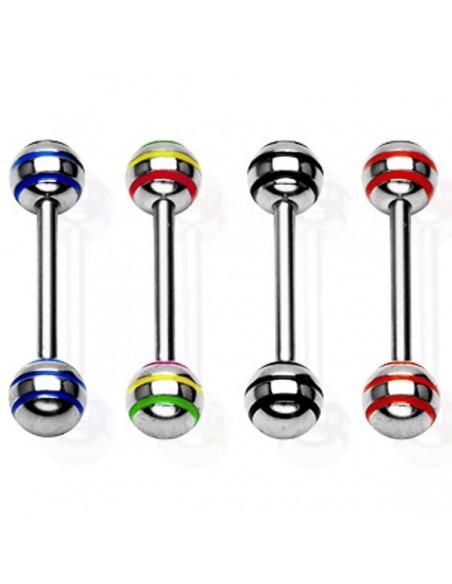 Piercing langue rasta jamaique strike stripe ball