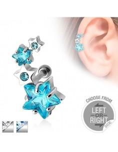 Piercing boucle oreille cartilage étoile