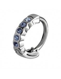 Superbe anneau huggies avec zircons