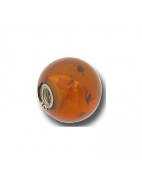 accessoire de piercing boule ambre pour tige de 1.6 mm