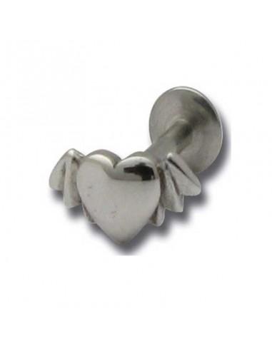 Piercing levre acier coeur fonte acier