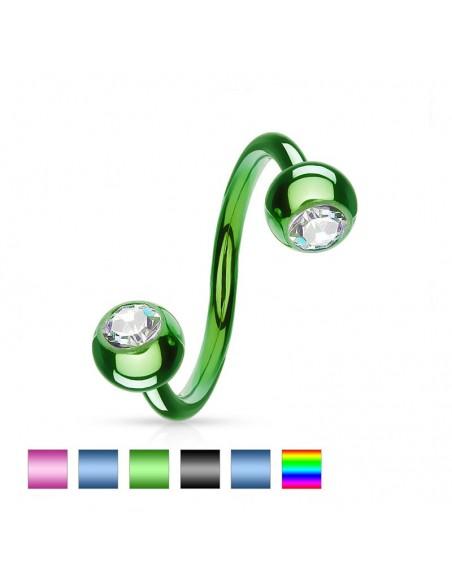 Piercing spirale de couleur