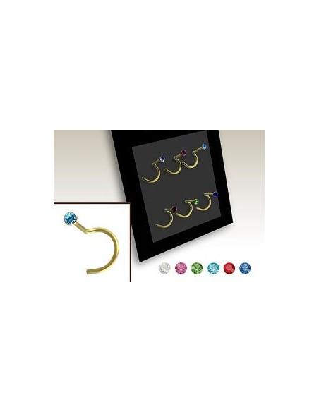 bijoux de nez plaqué or