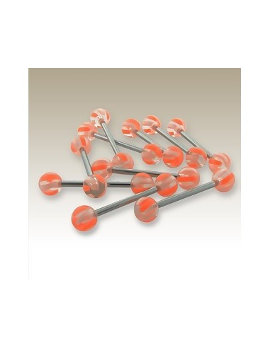 Piercing UV barbell pour langue