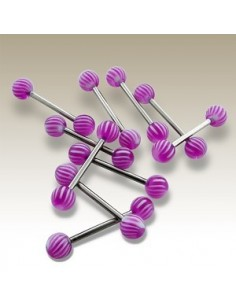 Barbell UV rayures courbées
