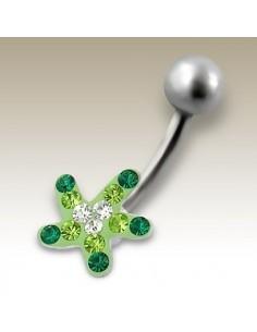 Piercing étoile discret - bijou nombril