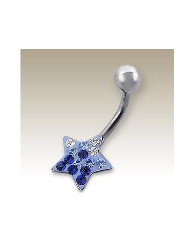 Piercing nombril étoile serti