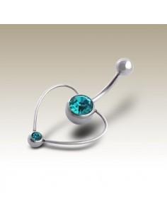Un coeur au nombril - bijoux piercing