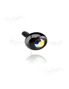 Black Jeweled Micro Balls