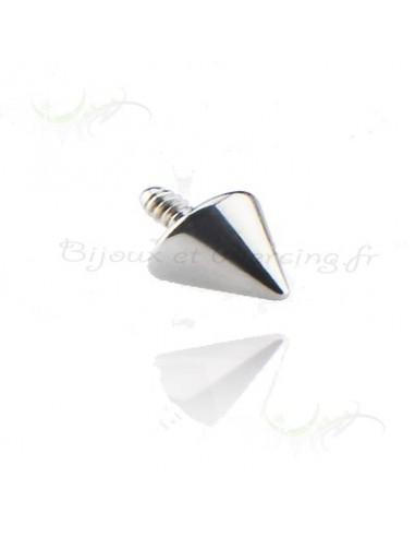 Pointe acier vissage interne - accessoire piercing