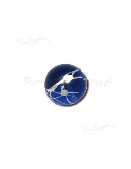 Accessoire bille fantaisie bleue et argentée