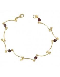 Bracelet en plaqué or pierre de synthèse