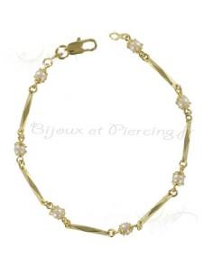 Bracelet plaqué or perles douceur