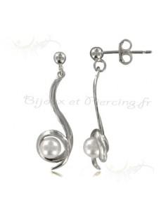 Boucles d'oreilles Argent et perles nacrées