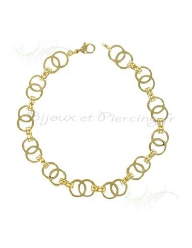 Bracelet plaqué or maille ajouré