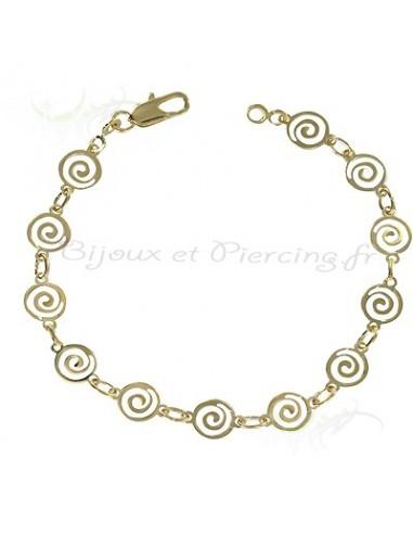 Bracelet plaqué or cercle et rond