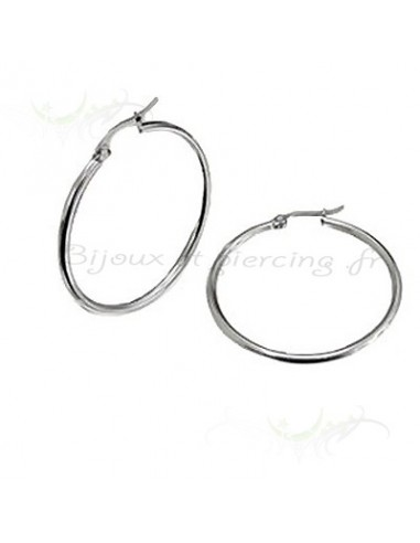 Boucles d'oreilles Anneaux steel