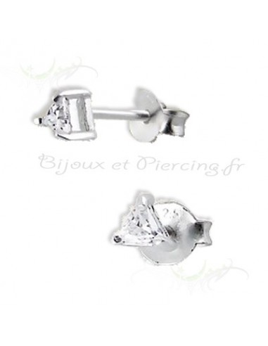 Boucles d'oreilles triangulaire en argent