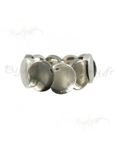 Bracelet anneaux acier fantaisie