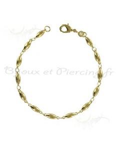 Bracelet plaqué or de 19 cm