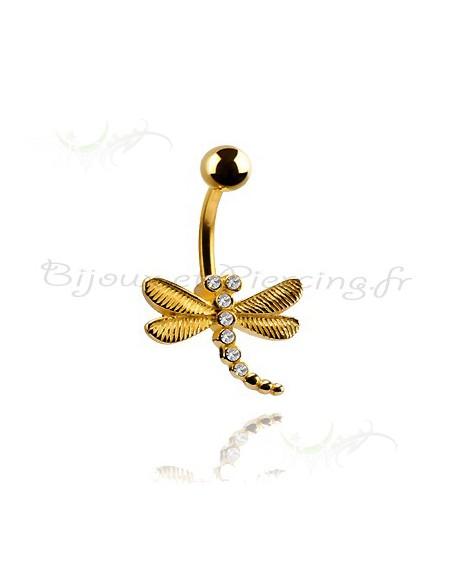 Piercing nombril libellule - vente bijoux