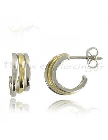 Boucles d'oreilles trois anneaux